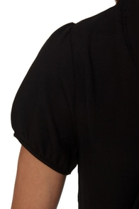 Final Answer Short Sleeve Black Top at Lulus.com!