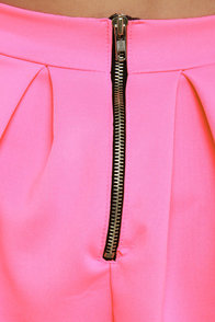 Everything Illuminated Neon Pink Skirt at Lulus.com!