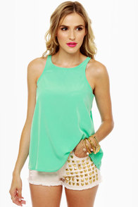 My Boyfriend's Back Mint Green Top at Lulus.com!