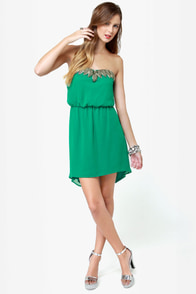 Human Nature Strapless Green Dress at Lulus.com!