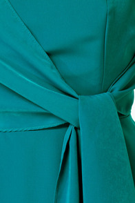 Sash-lee Simpson Strapless Teal Dress at Lulus.com!