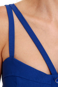 Win Win Situation Blue Bustier Top at Lulus.com!
