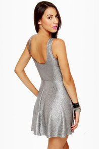 Belle of the Disco Ball Silver Dress