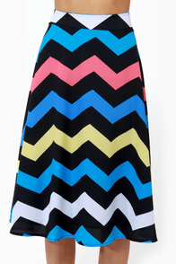 Zag Queen Zigzag Print Skirt at Lulus.com!
