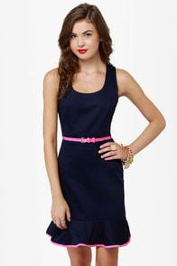 True to Form Navy Blue Dress