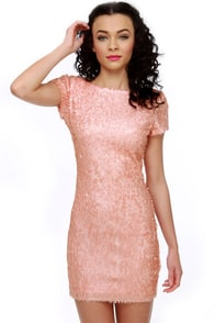 Rubber Ducky Lovergirl Pink Sequin Dress