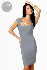 Midi City Grey Dress