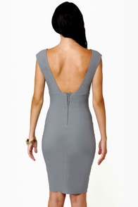 Midi City Grey Dress