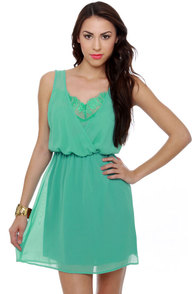 Elegant Extracts Turquoise Dress