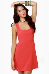 Follow Me Sleeveless Red Dress at Lulus.com!