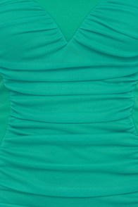 Sweet on Repeat Strapless Teal Dress