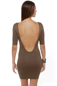 Plunges Past Brown Dress at Lulus.com!