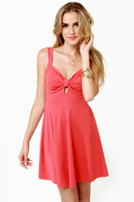Flare de Lis Coral Pink Dress at Lulus.com!