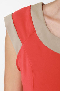 Double Exposure Coral Orange Dress at Lulus.com!