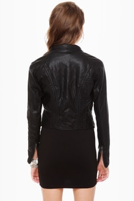 Blank NYC Fitted Black Moto Jacket at Lulus.com!