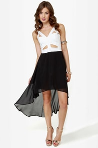 For Keeps White and Black Dress at Lulus.com!