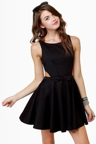 Queen of Swing Black Dress