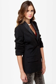 Lapel's Show Black Blazer at Lulus.com!