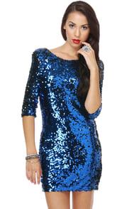Blaque Label Supernova Blue Sequin Dress