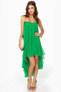 Blaque Label Aeriform Strapless Green Dress