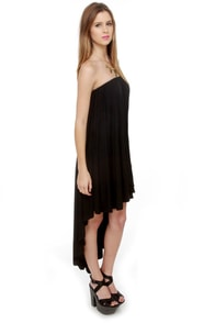 Blaque Label High Swoon Strapless Black Dress at Lulus.com!