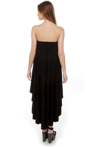 Blaque Label High Swoon Strapless Black Dress