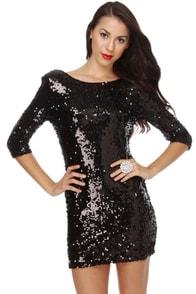 Blaque Label Supernova Black Sequin Dress