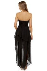 Dark Angel Strapless Black Dress