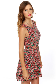 Lucca Couture Midsummer Pink Floral Print Dress at Lulus.com!