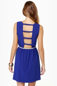 Bridge the Gap Royal Blue Dress at Lulus.com!
