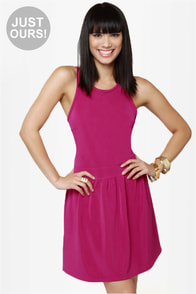 Skater Dee Magenta Dress at Lulus.com!