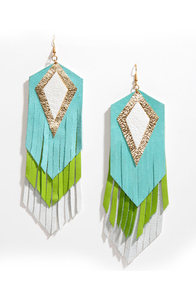Claire Fong Mojito Leather Fringe Earrings