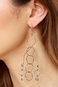 Brain Teaser Silver Earrings at Lulus.com!