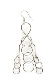 Brain Teaser Silver Earrings at Lulus.com!