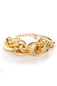 More for Me Gold Chain Bracelet at Lulus.com!