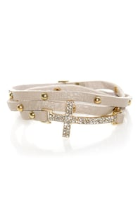 Cross the Pond Leather Wrap Bracelet at Lulus.com!