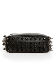 Spike Cake Black Leather Purse at Lulus.com!