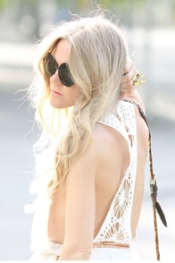Under the Sun Ivory Lace Dress at Lulus.com!