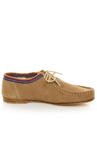 2568 Desierto Tan Suede Lace-Up Moccasin Booties at Lulus.com!