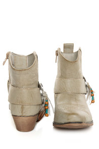 Big Buddha West Natural Paris Embellished Cowgirl Ankle Boots at Lulus.com!