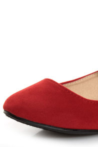 Doby 4 Red Velvet Mary Jane Ballet Flats at Lulus.com!