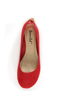 Doby 6 Red Studded Heel Zipper Ballet Flats at Lulus.com!