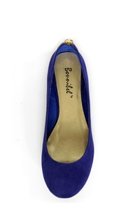 Doby 6 Royal Blue Studded Heel Zipper Ballet Flats at Lulus.com!