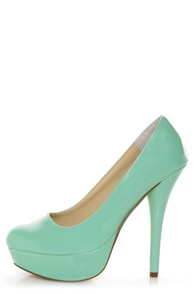 Bonnibel Monique 1N Mint Patent Platform Pumps at Lulus.com!