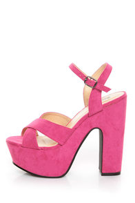 Bonnibel Portia 1 Hot Pink Platform Sandals at Lulus.com!