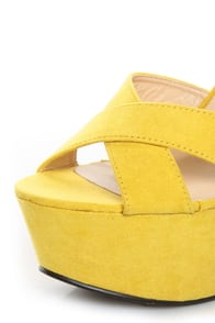 Bonnibel Portia 1 Yellow Platform Sandals at Lulus.com!