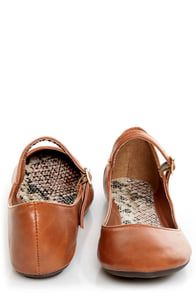 Bamboo Crush 25 Chestnut Brown Mary Jane Ballet Flats at Lulus.com!