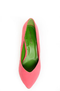 Bamboo Deluxe 01 Coral Pointed Pumps at Lulus.com!