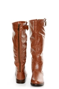 Bamboo Montage 01N Chestnut Knee-High Riding Boots at Lulus.com!