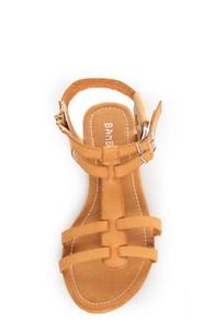 Bamboo Sherin 02 Natural Tan Gladiator Sandals at Lulus.com!